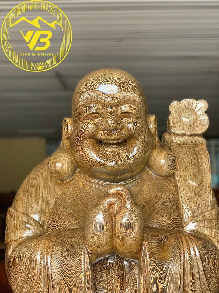 Tượng Cụ Di Lặc Chúc phúc gỗ Mun DL06 2