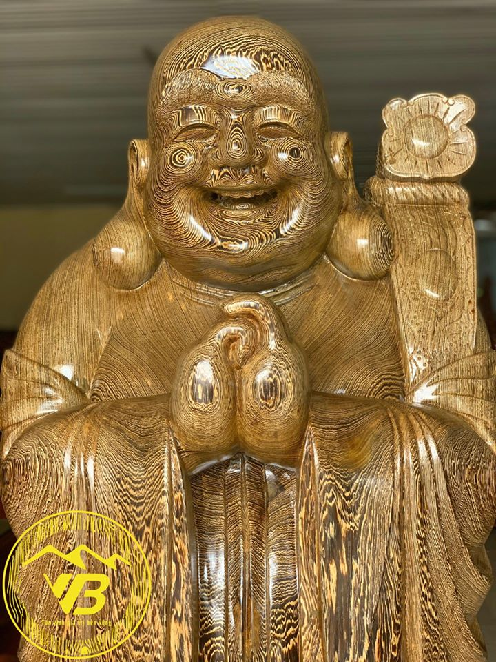 Tượng Cụ Di Lặc Chúc phúc gỗ Mun DL06 3
