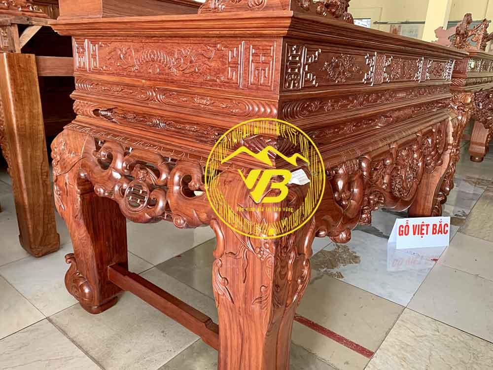 Sập Thờ Ngũ Phúc Gỗ Cẩm Lai siêu đẹp ST203 2