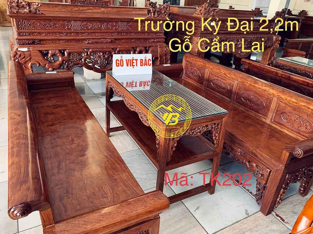Trường Kỷ Đại Cẩm Lai Vân Chun sang trọng TK202 1